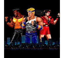STREETS OF RAGE - AXEL-BLAZE-ADAM - CITY (2) Photographic Print