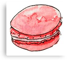 watercolor red macaroons Canvas Print