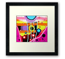 The most desigual ugly abstract art in the world Framed Print