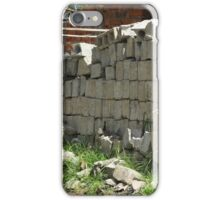 Bricks at a Construction Site iPhone Case/Skin