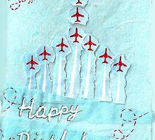 Red Arrows Birthday Card - sister 2  by Blackbird76