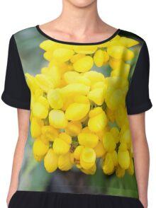 Starburst yellow flowers Chiffon Top