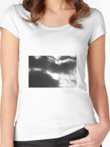 Dark clouds Women's Fitted Scoop T-Shirt