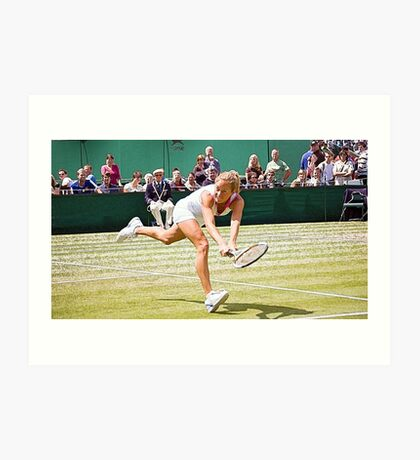 Painting of a tennis championship Art Print