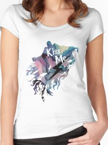 KISS ME DEMENTOR Women's Fitted Scoop T-Shirt