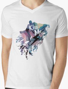 KISS ME DEMENTOR Mens V-Neck T-Shirt