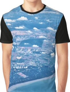 city and buildings aerial view Graphic T-Shirt