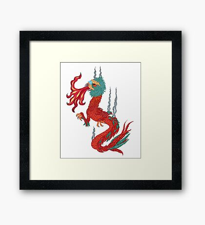 feathered dragon Framed Print