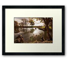 Surreal pond Framed Print