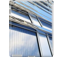 modern contemporary tower detail closup of facade glass pannels iPad Case/Skin