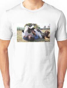 Hugging a Cow Unisex T-Shirt