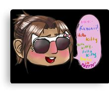 Hanji kitty swag Canvas Print