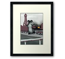 Monster of BP - Glasses Framed Print