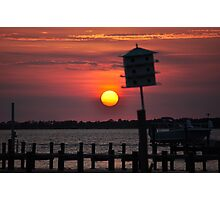 """""""Calm Before the Storm"""" - Sunset at the Sound Photographic Print"""