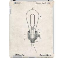 Edison Light Bulb Invention US Patent Art iPad Case/Skin