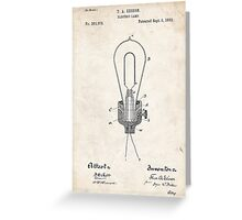 Edison Light Bulb Invention US Patent Art Greeting Card