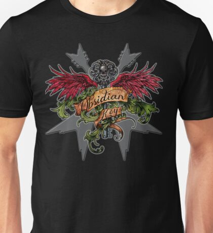 Obsidian Key - Winged Key, Skull and V shaped guitars - Progressive Rock Metal Music Unisex T-Shirt