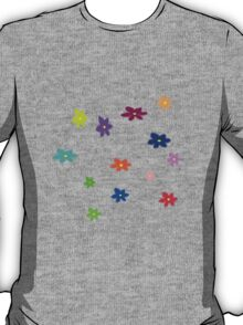 Twelve plus one cheerful flowers transparent background T-Shirt