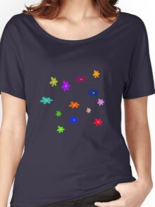Twelve plus one cheerful flowers transparent background Women's Relaxed Fit T-Shirt