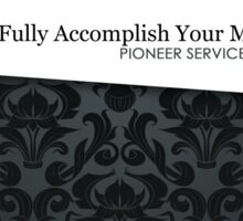 PSS: Pioneer Service School (Elegant Ribbon) Sticker