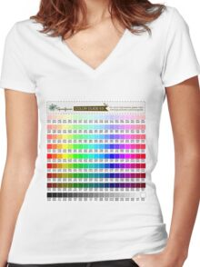 COLOR TESTING #1 (RGB Palette) Women's Fitted V-Neck T-Shirt