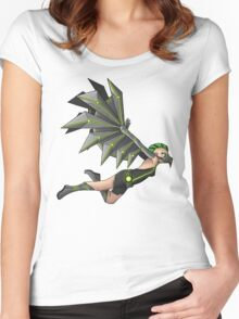 Wings of Metal Women's Fitted Scoop T-Shirt