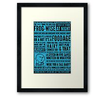 Bald Mank Framed Print