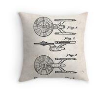 Star Trek USS Enterprise US Patent Art Spacecraft Rocket Kirk Spock Throw Pillow