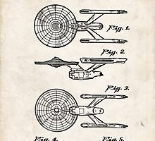 Star Trek USS Enterprise US Patent Art Spacecraft Rocket Kirk Spock by Steve Chambers