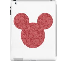 Mouse Red Detailed Patterned Silhouette iPad Case/Skin