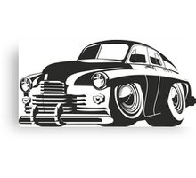 cartoon retro car Canvas Print