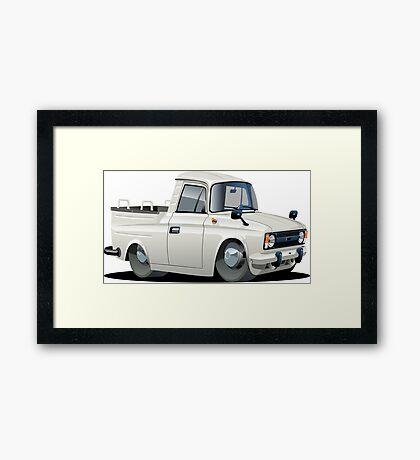 Cartoon pickup Framed Print