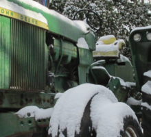 A Deere In The Snow Sticker