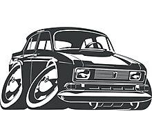 Cartoon retro car Photographic Print