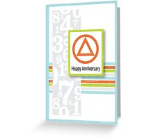 AA Anniversary Card Greeting Card