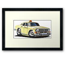 Cartoon taxi car Framed Print