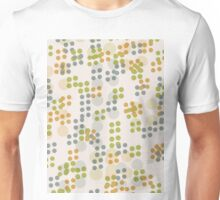 Pattern 018  Retro Dots, Green, Yellow, And Blue  Unisex T-Shirt