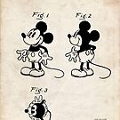 Mickey Mouse US Patent Art Walt Disney Cartoon 1930 by Steve Chambers
