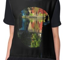 Reflection in a canal tunnel Chiffon Top