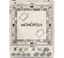 Monopoly Board Game US Patent Art 1935 iPad Case/Skin