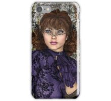 Lady in Purple iPhone Case/Skin