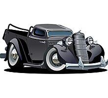 Cartoon retro pickup Photographic Print