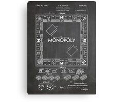 Monopoly Board Game US Patent Art 1935 Blackboard Canvas Print