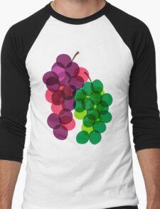 Retro Grapes Men's Baseball ¾ T-Shirt