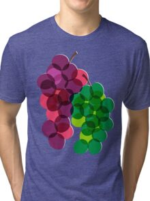 Retro Grapes Tri-blend T-Shirt