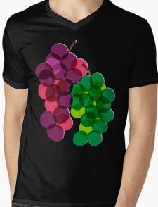 Retro Grapes Mens V-Neck T-Shirt