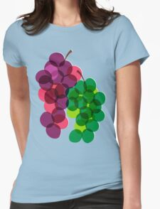 Retro Grapes Womens Fitted T-Shirt