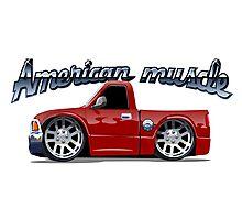 Cartoon muscle car Photographic Print