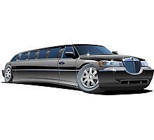 Cartoon limousine Photographic Print