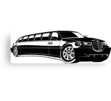 Cartoon limousine Canvas Print